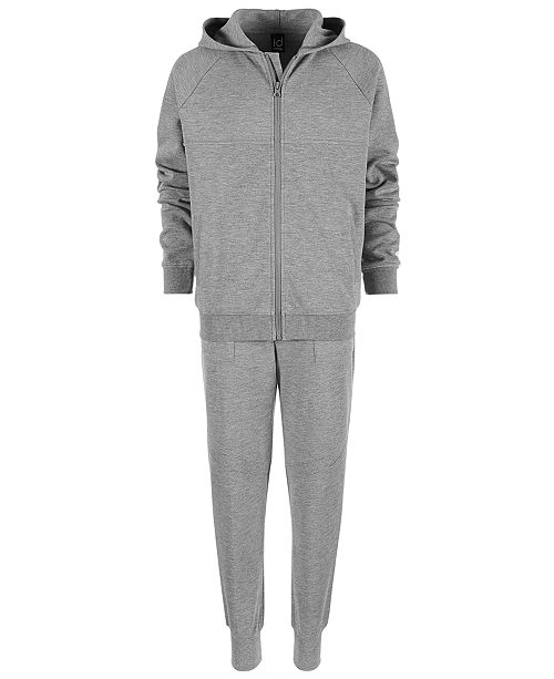Ideology Big Boys Race Stripe Zip-Up Hoodie & Jogger Pants Separates, Created for Macy's