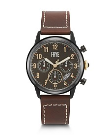 Frye Mens' Graham Chronograph Whiskey Leather Strap Watch