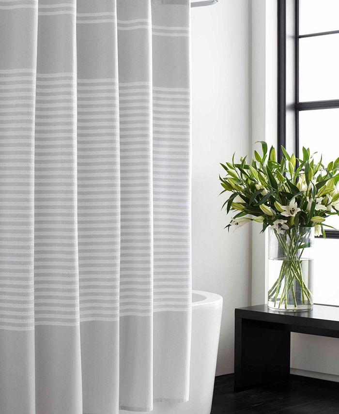 Vera Wang - Seersucker Stripe Shower Curtain