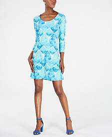 Erin Printed Scoop-Neck Dress