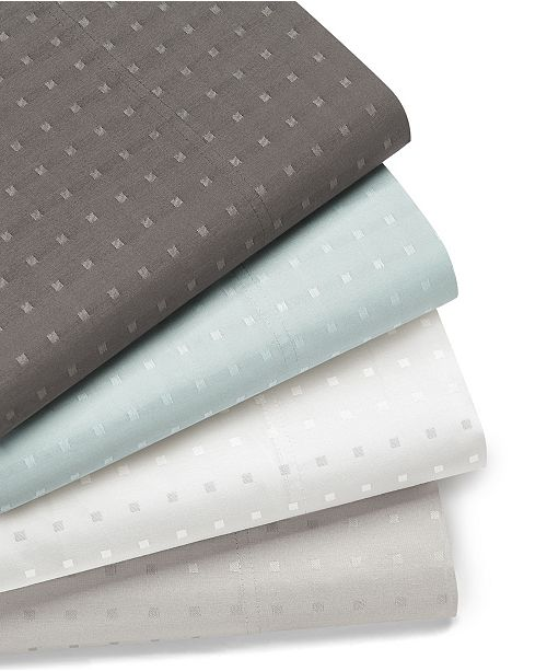 AQ Textiles Woven Dot 6 piece King Sheet Set, 400 Thread Count Combed Cotton Blend