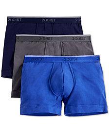 2(x)ist Men's Cotton Stretch Boxer Briefs 3-Pack