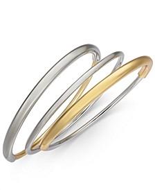 Two-Tone 3-Pc. Set Bangle Bracelets, Created for Macy's