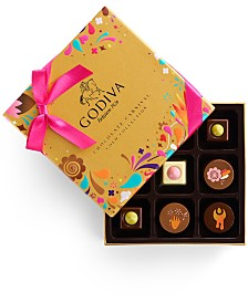 Godiva Chocolatier 9-Pc. Chocolate Festival Gold Collection Gift Box