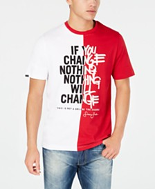 Sean John Men's Nothing Will Change Colorblocked Graphic T-Shirt