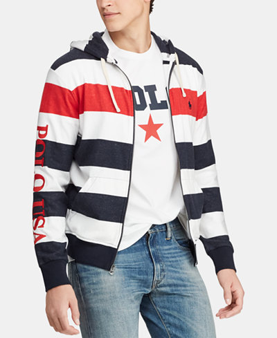 Polo Ralph Lauren Men's Striped Terry Americana Hoodie