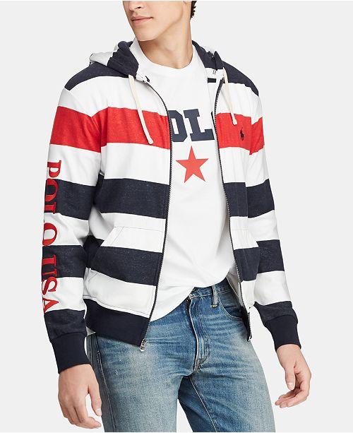 Polo Ralph Lauren Men's Striped Terry  Americana Hoodie