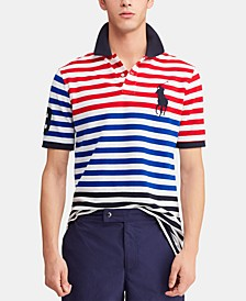 Men's Classic-Fit Striped Mesh Americana Polo Shirt