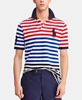 441a9702032ba Polo Ralph Lauren Men's Classic-Fit Striped Mesh Americana Polo Shirt