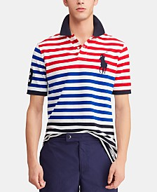 Polo Ralph Lauren Men's Classic-Fit Striped Mesh Americana Polo Shirt