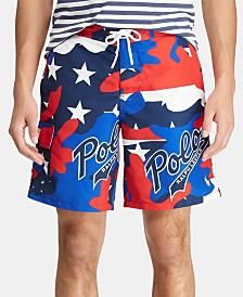 "Polo Ralph Lauren Men's 8-1/2"" Kailua Swim Americana Trunks, Created for Macy's"