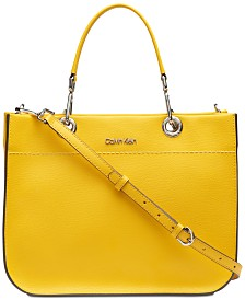 Calvin Klein Sandra Leather Satchel