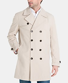 Michael Kors Men's Modern-Fit Double-Breasted Raincoat