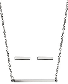 Kitsch Insta Collection Bar Necklace and Earring Box Set