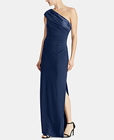 Lauren Ralph Lauren One-Shoulder Gown