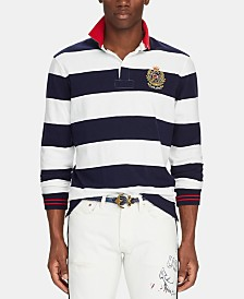 Polo Ralph Lauren Men's Classic-Fit Striped Rugby Shirt
