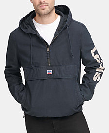 Levi's® Men's Garment-Dyed 1/2-Zip Hooded Twill Jacket