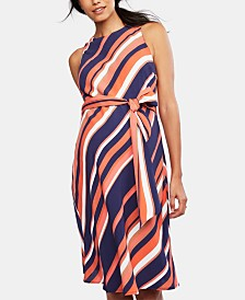 A Pea In The Pod Maternity Belted Dress