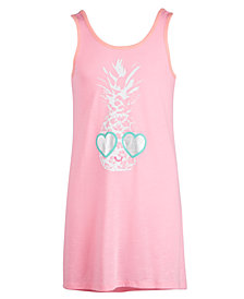 Miken Big Girls Pineapple Graphic Cover Up