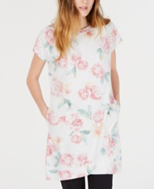 Ideology Floral-Print Tunic, Created for Macy's