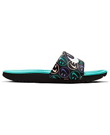 Nike Boys' Kawa Print Slide Sandals from Finish Line