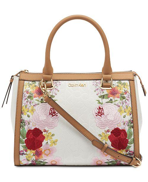 Calvin Klein Mercy Signature Floral Satchel