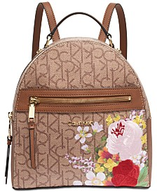 Calvin Klein Mercy Signature Floral Backpack