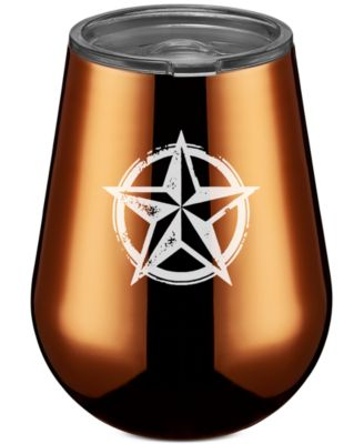 Thirstystone Stainless Steel Texas Lone Star Stemless Wine Glass, Copper