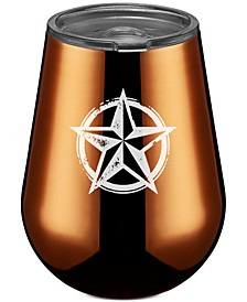 Stainless Steel Texas Lone Star Stemless Wine Glass, Copper