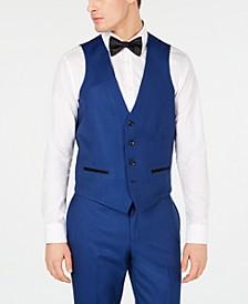 Men's Slim-Fit Stretch Cobalt Blue Tuxedo Suit Vest, Created for Macy's