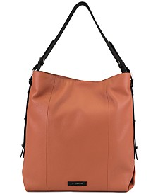 T Tahari Parker Leather Bucket Bag