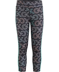 Calvin Klein Performance Big Girls Printed Capri Leggings