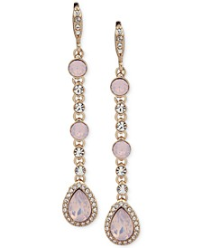Crystal & Stone Linear Extra Large Drop Earrings
