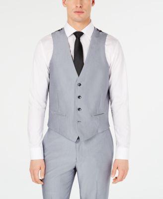 Men's Slim-Fit Stretch Tuxedo Suit Vest, Created for Macy's