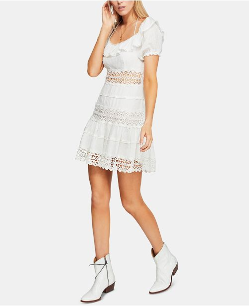 Free People Cruel Intentions Crochet-Lace Dress