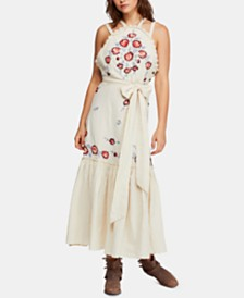 Free People Chrysanthemum Kiss Embroidered Maxi Dress