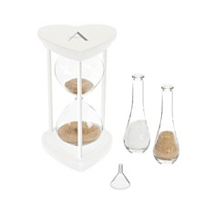 Cathy's Concepts Personalized Silver Unity Sand Ceremony Hourglass Set