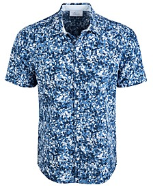 Greg Norman Men's Oakhill Floral Graphic Shirt