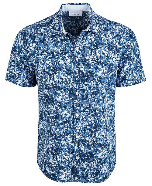 Greg Norman Men's Oakhill Floral Graphic Shirt
