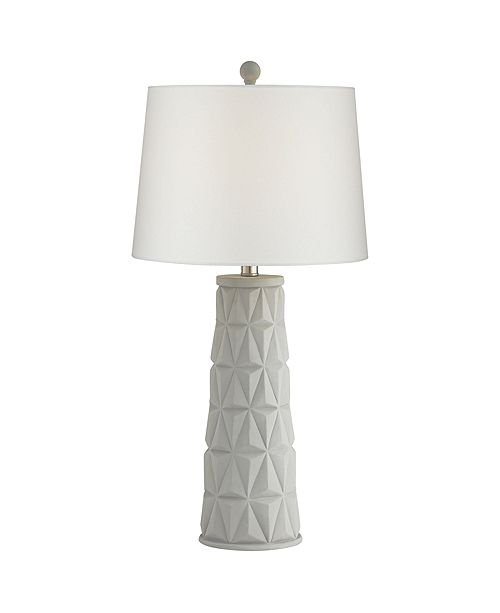 Pacific Coast Geo Pattern Cement Table Lamp