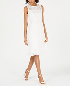 Jessica Howard Lace Layered-Hem Shift Dress