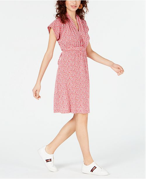 French Connection Elao Printed V-Neck Dress