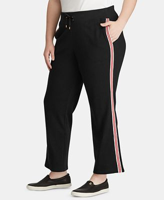 Lauren Ralph Lauren Plus Size Contrast-Striped Sweatpants