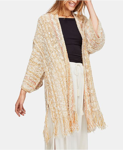 Free People Lucia Fringe Cardigan