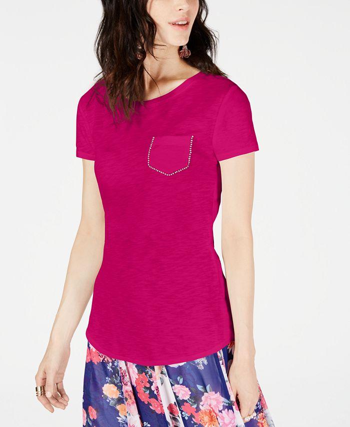 INC International Concepts - Cotton Embellished T-Shirt
