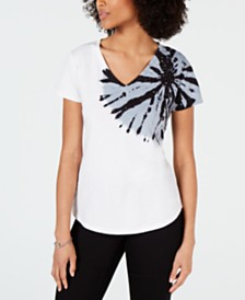 I.N.C. V-Neck Tie-Dye T-Shirt, Created for Macy's