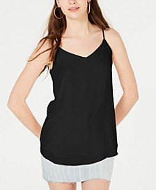 Juniors' V-Neck Sleeveless Top
