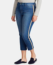 Lauren Ralph Lauren Plus Size Regal Straight Ankle Jeans