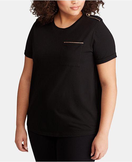 Lauren Ralph Lauren Plus Size Pocket T-Shirt