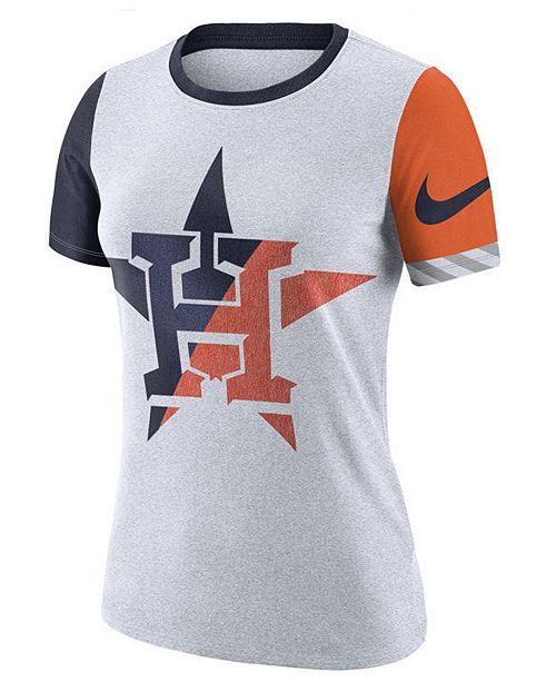 cb841359ce650 Nike Women's Houston Astros Slub Logo Crew T-Shirt & Reviews ...